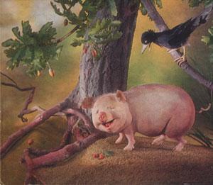 Свинья под дубом. Басня Крылова